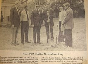 Groundbreaking for the SPCA's location at 115 Featherbed Lane.
